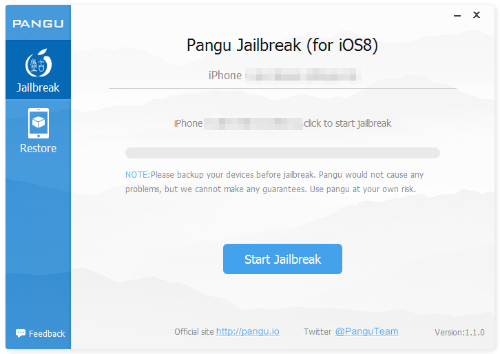 pangu iOS 8 1